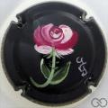 Champagne capsule 40.f Fond noir et rose