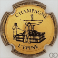 Champagne capsule H4410.c Or et noir strié