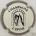 Champagne capsule H4412.a Blanc et noir striée