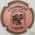 Champagne capsule H4413.e Rosé et noir striée