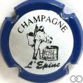 Champagne capsule H4411.e Blanc, contour bleu