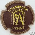 Champagne capsule H4412.f Bordeaux foncé, contour or striée