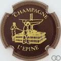 Champagne capsule H4410.b Marron et or striée