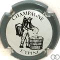 Champagne capsule H4411.b Blanc, contour gris