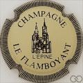 Champagne capsule 1.b Crème et noir, striée