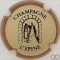 Champagne capsule H4412.e Crème, contour marron striée