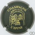 Champagne capsule H4413.g Vert foncé et or