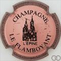 Champagne capsule 1.a Rosé et noir, striée