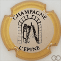 Champagne capsule H4412 Blanc, contour or
