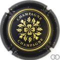 Champagne capsule 7.b Noir mat et or