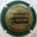 Champagne capsule 7 Or et noir, contour vert
