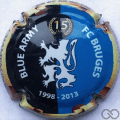 Champagne capsule 3.a Blue Army, 15 ans, polychrome
