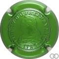 Champagne capsule 24.c Estampée vert métallisé
