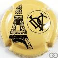 Champagne capsule A12.a Tour Eiffel, crème  et noir