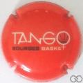 Champagne capsule 270.a Tango Bourges, fond orange