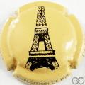 Champagne capsule A12 Tour Eiffel, crème  et noir