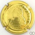 Champagne capsule 23 Estampée, or, avec relief