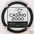 Champagne capsule 313 Casino 2000, noir et blanc