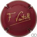 Champagne capsule 20.g Bordeaux et or, sans cercle or