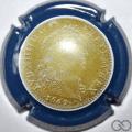 Champagne capsule A3.a Or contour bleu