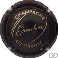 Champagne capsule 6 Noir mat et or