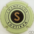 Champagne capsule 11.c Fond vert pâle, avec tel
