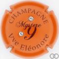 Champagne capsule 8 Orange, avec 2 strass