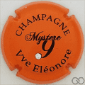 Champagne capsule 8 Orange, avec 1 strass