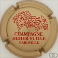 Champagne capsule 8.c Or pâle et rouge