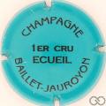 Champagne capsule 17.f Turquoise et noir