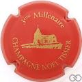 Champagne capsule 6.c 3ème Millénaire, rouge et or