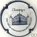 Champagne capsule  Blanc contour bleu, verso or