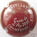 Champagne capsule 2 Bordeaux et or, striée
