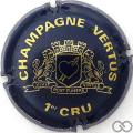 Champagne capsule 16 Bleu foncé et or vif