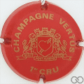 Champagne capsule 1 Rouge et or