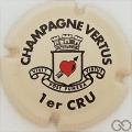 Champagne capsule 19 Crème, noir et rouge