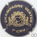 Champagne capsule 15 Bleu foncé et or pâle