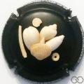 Champagne capsule A1.a Fond noir, sculptée