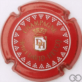 Champagne capsule 16.zh Rouge, blanc et or