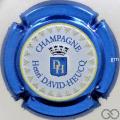 Champagne capsule 95.f Estampée, contour bleu métallisé