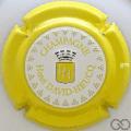Champagne capsule 95.d Estampée, contour jaune