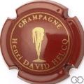 Champagne capsule 20.m Bordeaux foncé et or