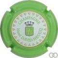 Champagne capsule 95.c Estampée, contour vert pomme