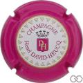 Champagne capsule 95.a Estampée, contour rose foncé