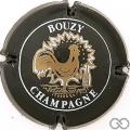Champagne capsule 15.c Noir et blanc, coq épais