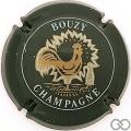 Champagne capsule 15.d Vert foncé et blanc, coq épais