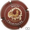 Champagne capsule 15 Bordeaux et blanc