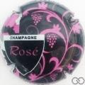 Champagne capsule 11 Noir et rose