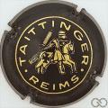 Champagne capsule 57.a Noir et or, lettres fines