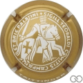 Champagne capsule 116.d Or et blanc, 32 mm